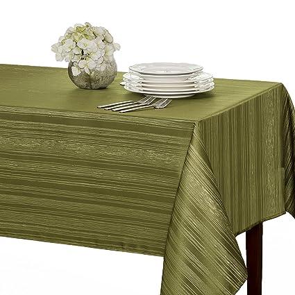 amazon com benson mills flow spillproof fabric tablecloth 60x104 rh amazon com