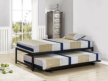Amazoncom Kings Brand Furniture Twin Size Black Metal Platform Bed
