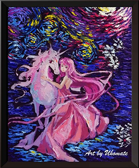Amazon.com: Uhomate Unicorn The Last Unicorn Wall Decor Vincent Van ...