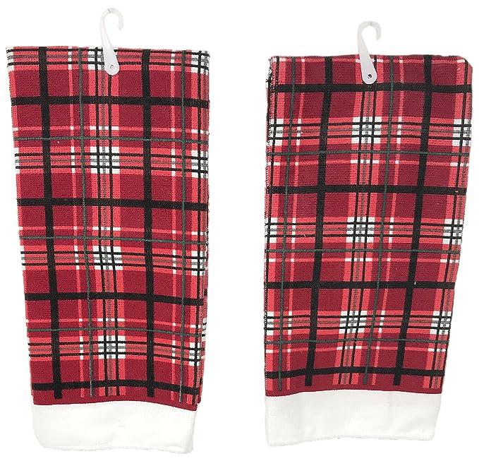 Navidad casa 2 piezas Juego de toallas de microfibra cocina: Amazon.es: Hogar