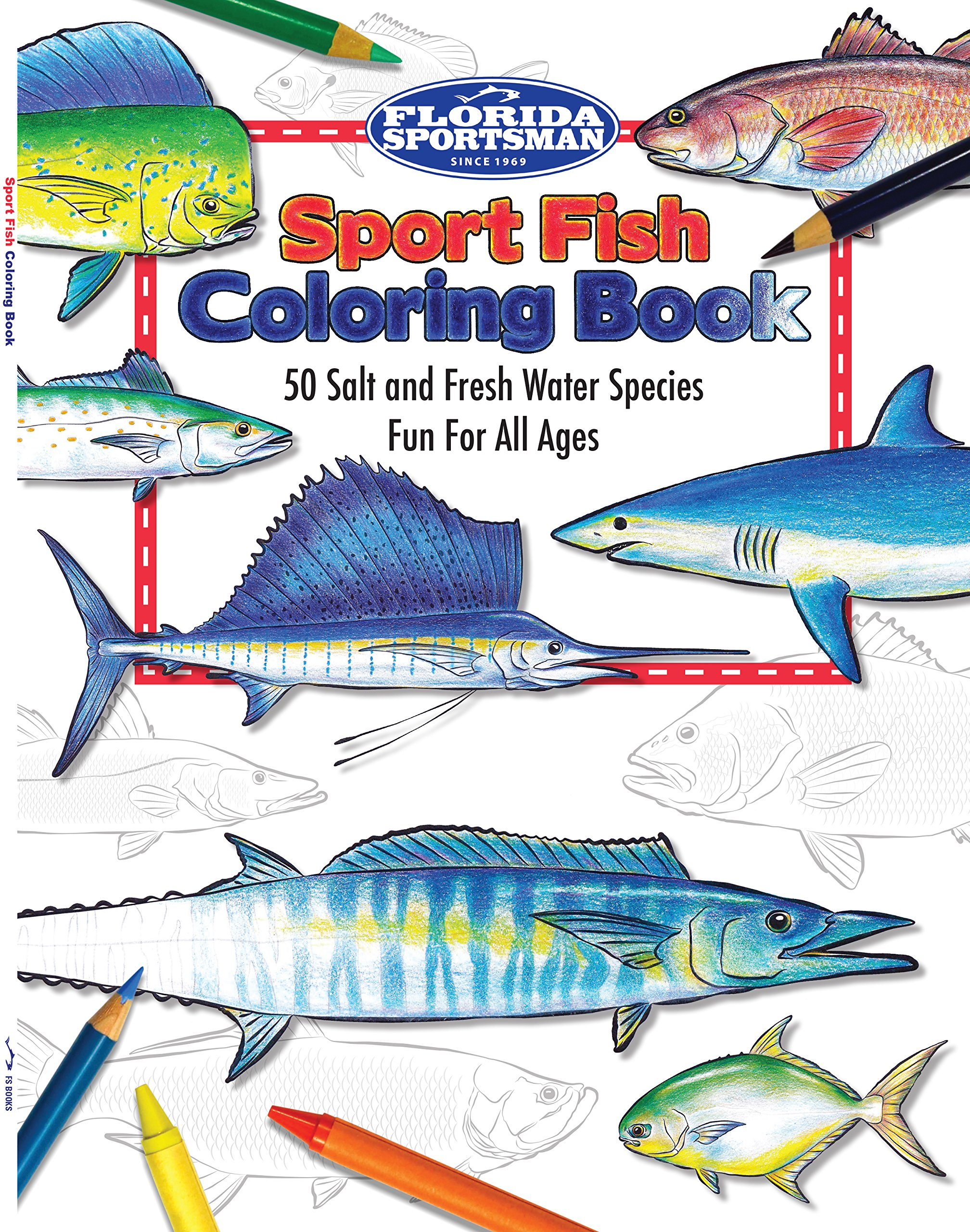 Florida Sportsman Sport Fish Coloring Book