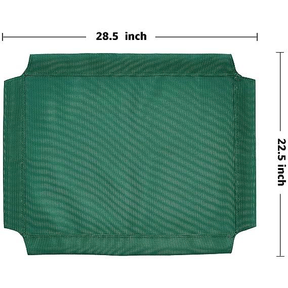 Recambio de cubierta para la cama para mascotas anticalor elevada de AmazonBasics, Pequeño, Verde: Amazon.es: Productos para mascotas