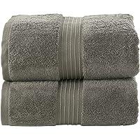 Bliss Casa - Juego de toallas de baño de algodón peinado de 35 x 70 pulgadas (2 unidades) de algodón peinado de alta…