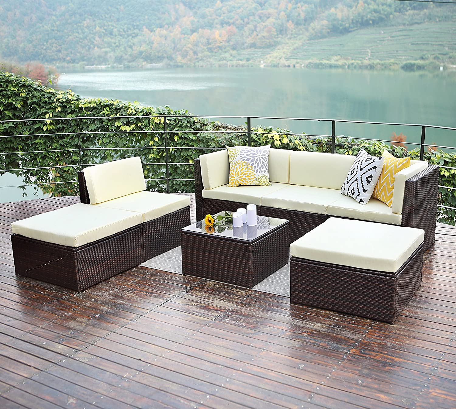 all aluminum dining modern sectional weather brown al wicker sofa com fresco dark offer fgqxqar furniture patio dinner classy sets amazon opportunity