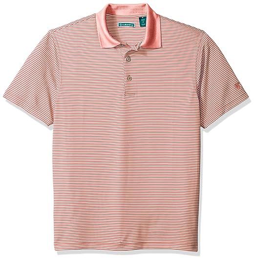 b7875de50 Cubavera Men's Short Sleeve Stripe Textured Performance Polo Shirt at  Amazon Men's Clothing store: