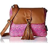 Kanvas Katha Women's Sling Bag (Pink) (KKSNJQ010)