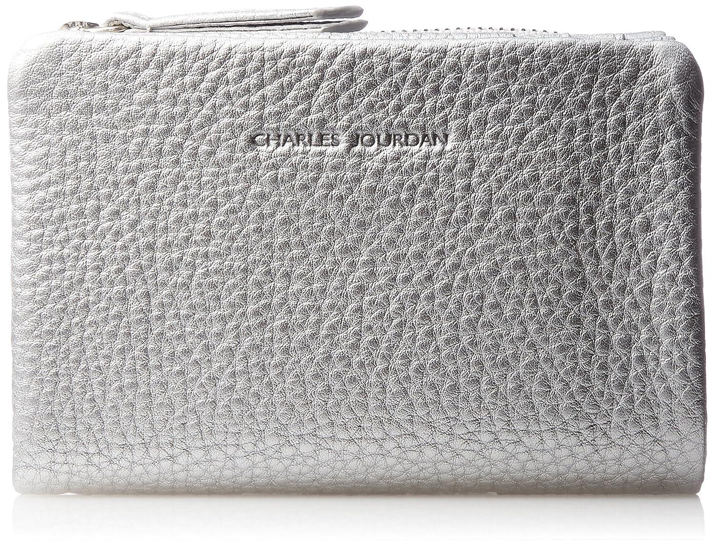 [シャルルジョルダン] 二つ折りファスナー財布 ブリエパース 55-3001 B076VG7QT5  シルバー