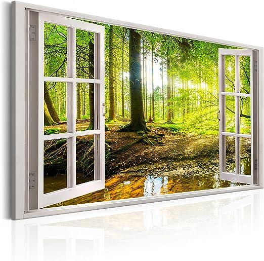 Glasbilder Wandbild Druck auf Glas 140x70 Wasserfall See Bäume Natur