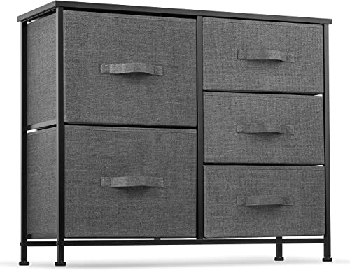 5 Drawer Dresser Organizer Fabric Storage Chest