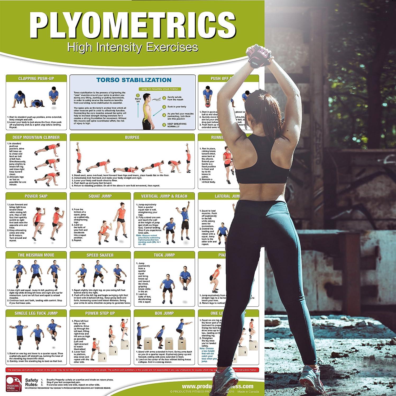 Amazon.com: Póster/gráfico de Plyometrics – ejercicios de ...