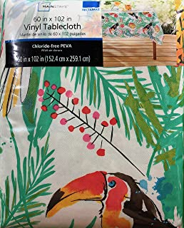 Incroyable Summer Tropical Toucans Vinyl Tablecloth (60 X 102)