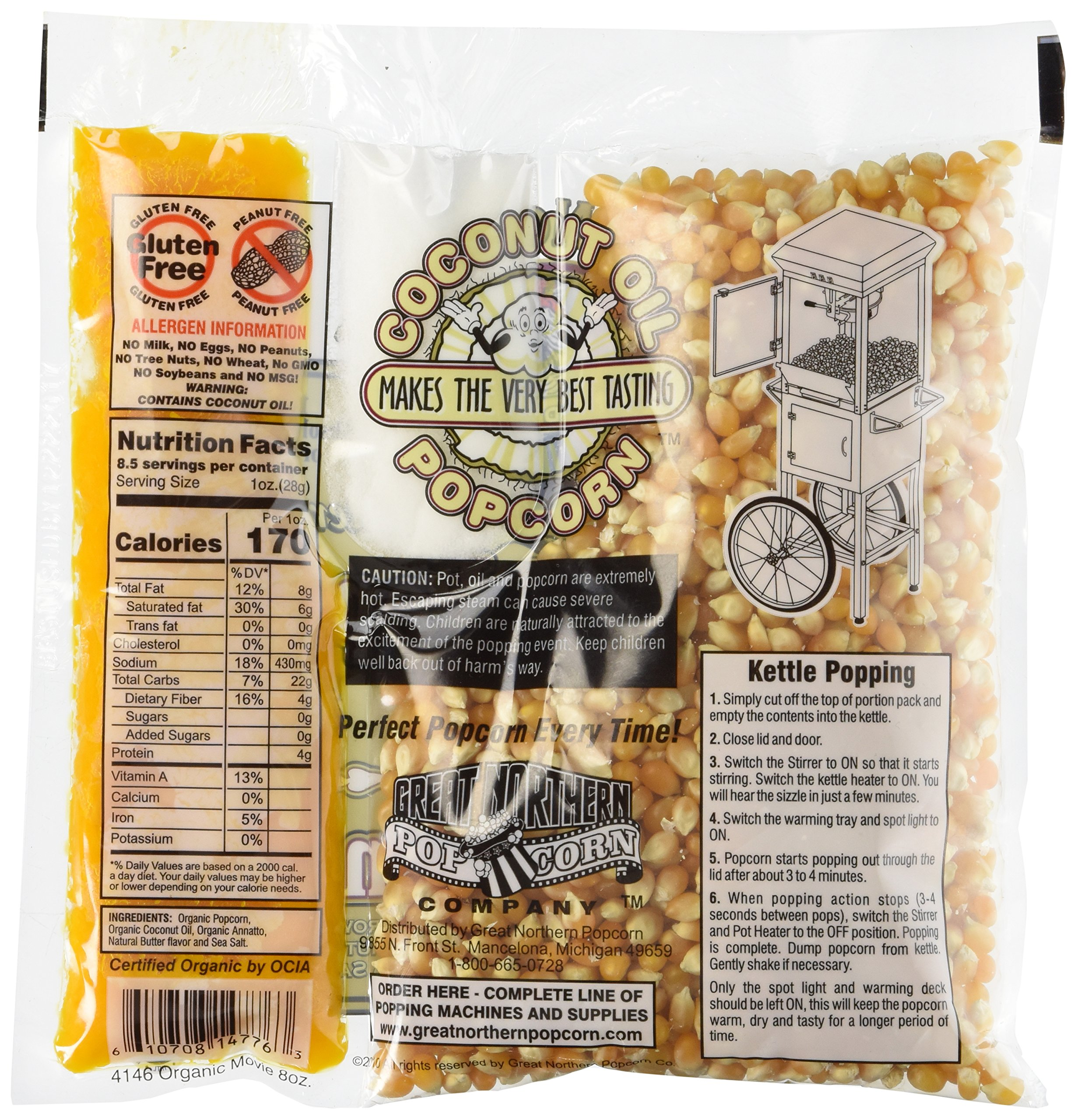 4147 Certified Organic 8 Oz Movie Theater Great Northern Popcorn Portion Packs 18ct by Great Northern Popcorn Company (Image #4)