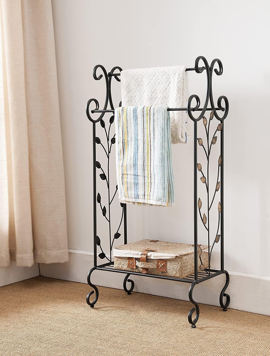 designs towel rack metal holder stand home l bathroom shelves