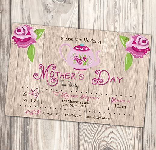 Amazon Com Mother S Day Tea Party Invitation Mother S Day