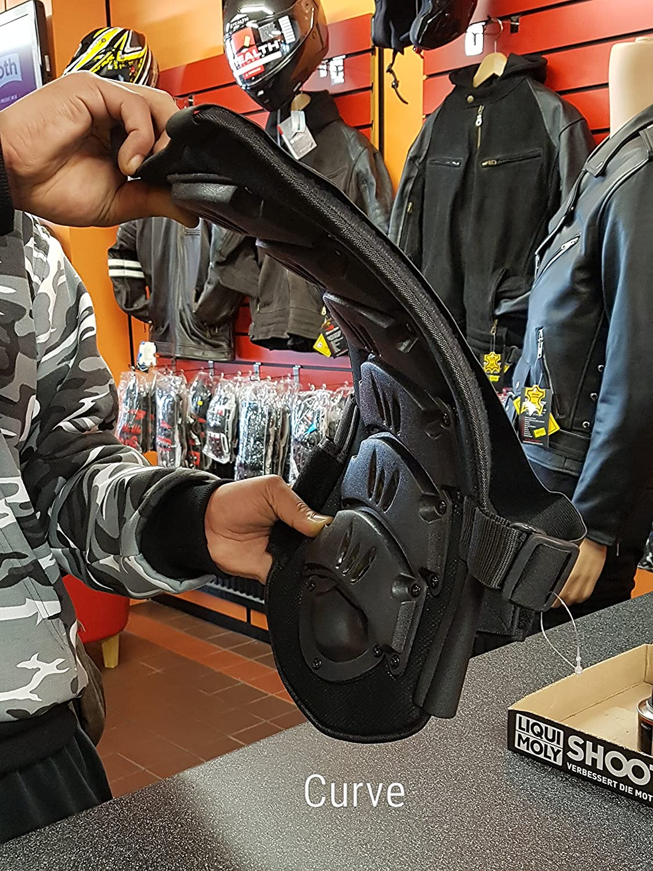 Bikers Gear UK Espaldera para Moto//Enduro//Snowboard y Descenso en Bicicleta Proteccion Columna Vertebral-certifiada CE EN1321-2-2002-TALLA