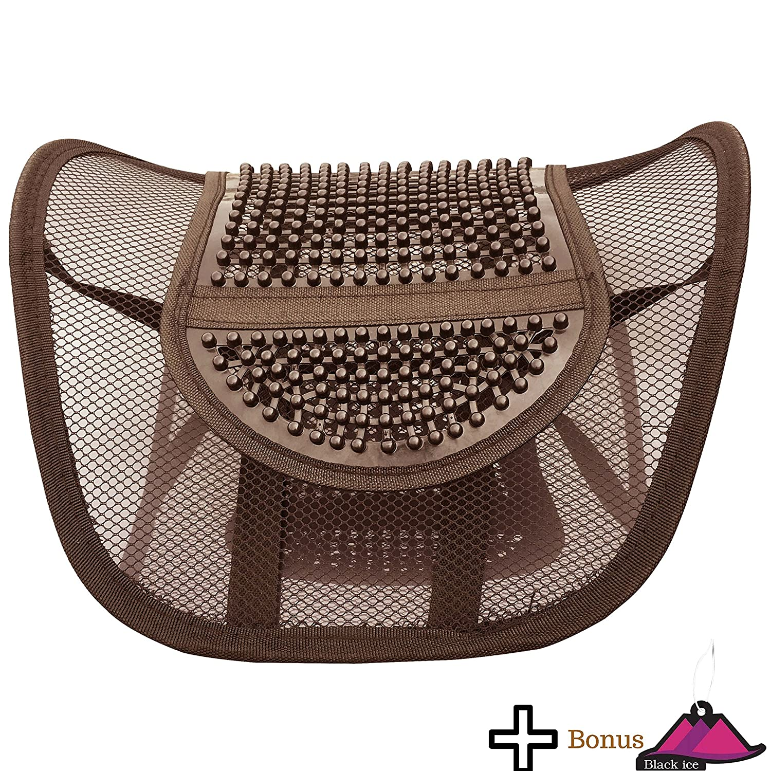 Amazon.com: Lumbar Mesh Back Support by FOMI Care | For Car, Office Chair, Home Alleviates Lower Pain, Promotes Healthy Posture, Corrects Spinal