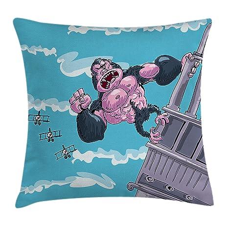 Amazon.com: Lunarable, King Kong - Funda de cojín con ...