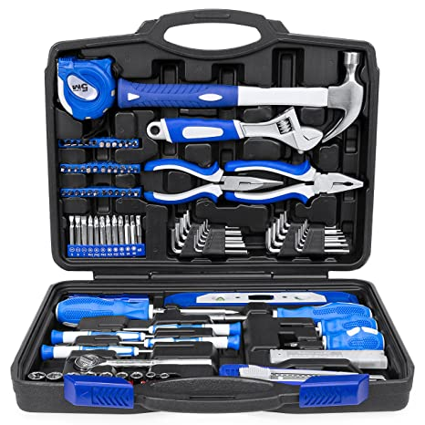 Best Choice Products 108 Piece Home Repair Tool Kit W Toolbox Storage Case Complete Household Set