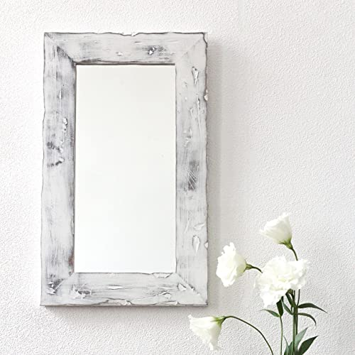 decorative wall mirror for rustic decor by woodenstuff rustic wood framed mirrors reclaimed woodwork for your - Wood Framed Mirrors