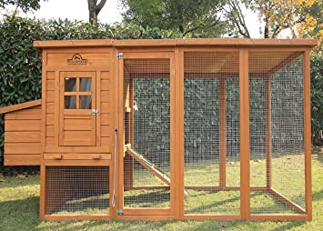 Pets Imperial® Arlington Chicken Coop With Extra Long Run 8ft/2 5m and  Ashpalt Roof Suitable For 4/6 Birds Depending On Size