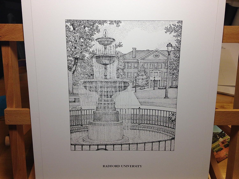 Radford University - Fountain 11'x14' pen and ink print