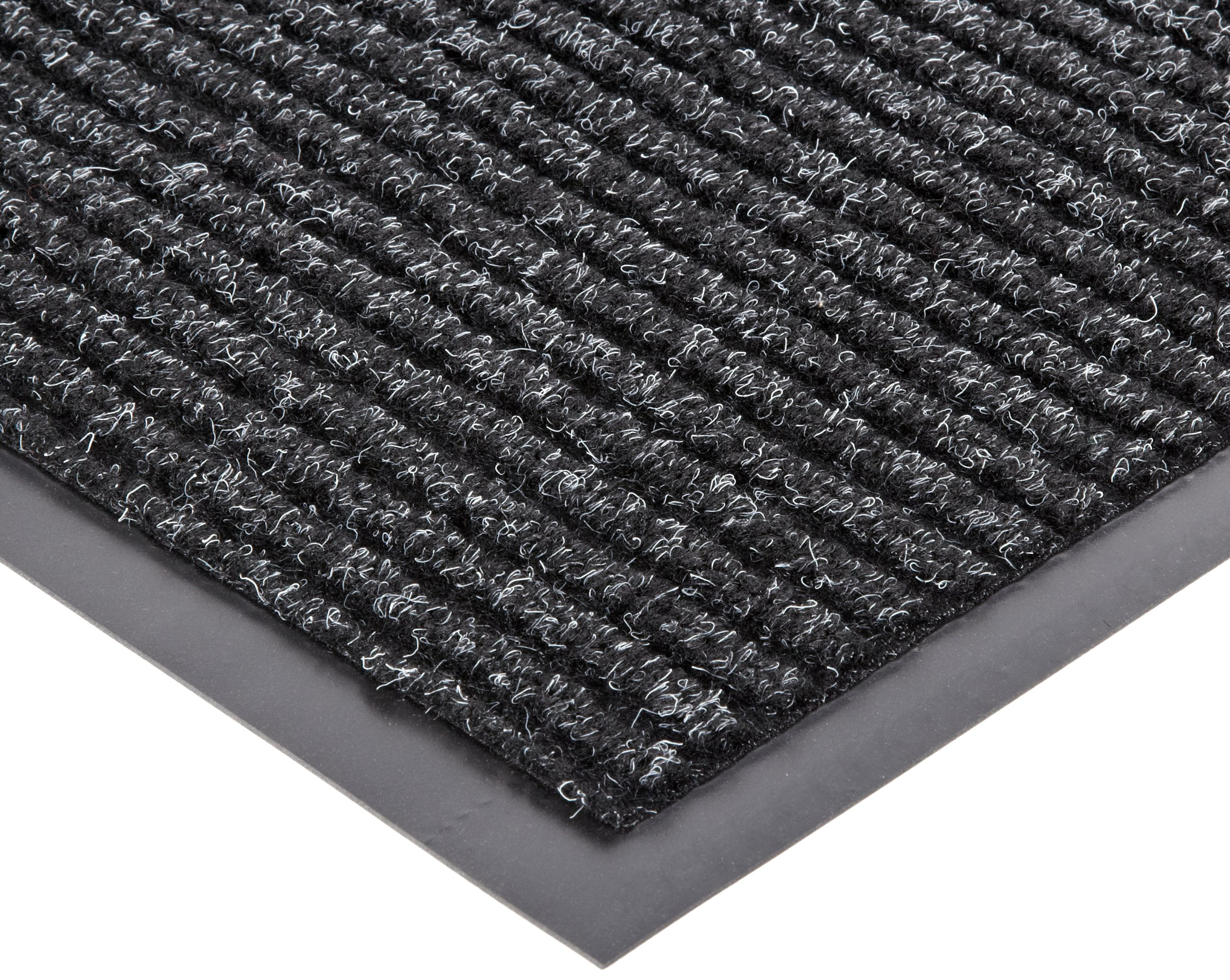 NoTrax 109 Brush Step Entrance Mat, for Lobbies and Indoor Entranceways, 2' Width x 3' Length x 3/8'' Thickness, Charcoal - 109S0023CH