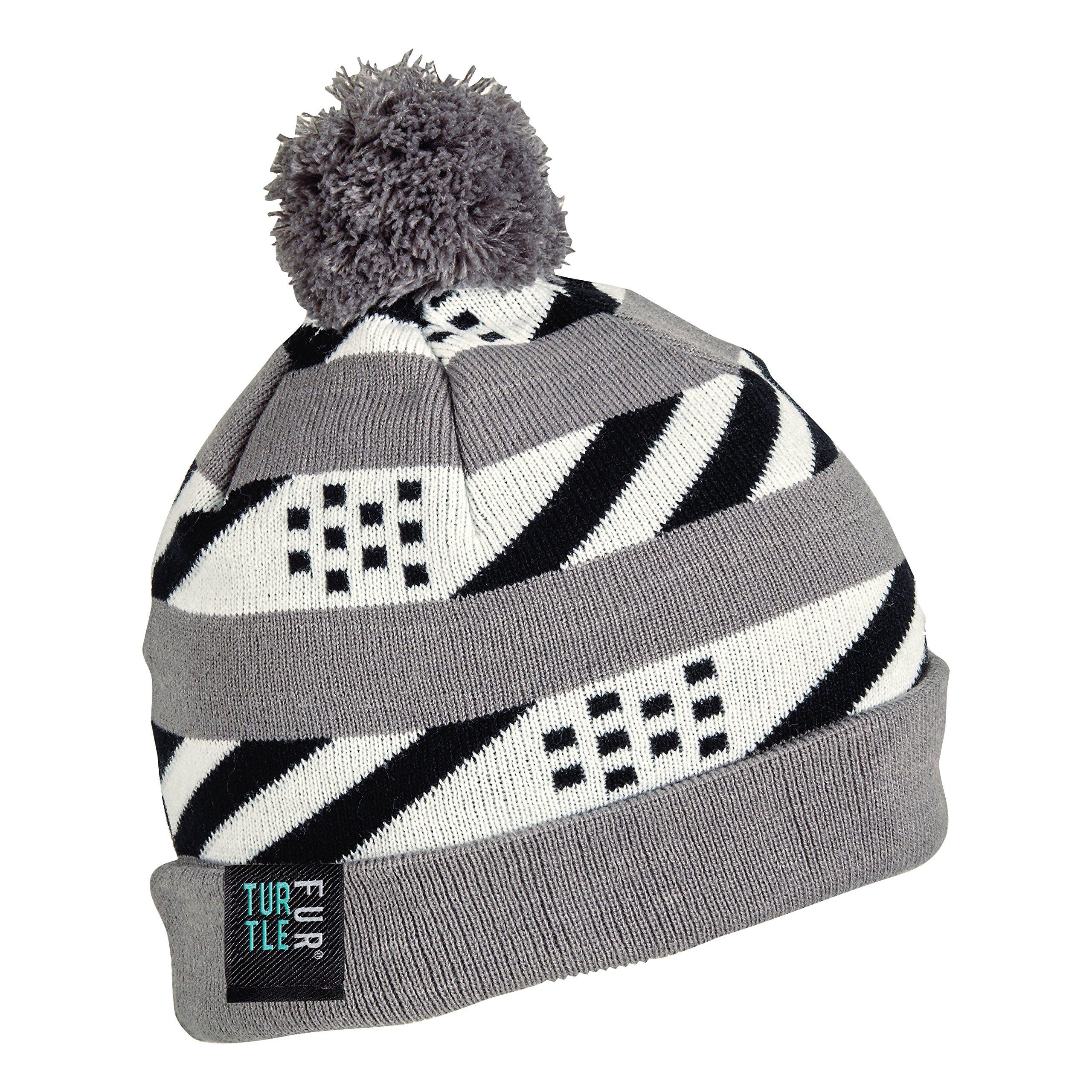 Turtle Fur Re-Run Boy's Fleece Lined Pom Winter Hat Gray