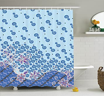 Batik Shower Curtain By Lunarable Scandinavian Interlace Celtic Knot Forms With Cultural Interactions Graphic Style