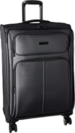 Samsonite Leverage LTE Softside Expandable Luggage with Spinner Wheels, Charcoal, Checked-Medium