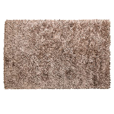 Amazon Com Mystiquedecors Shaggy Beige 5x7 Ft Soft Hand Tufted Area
