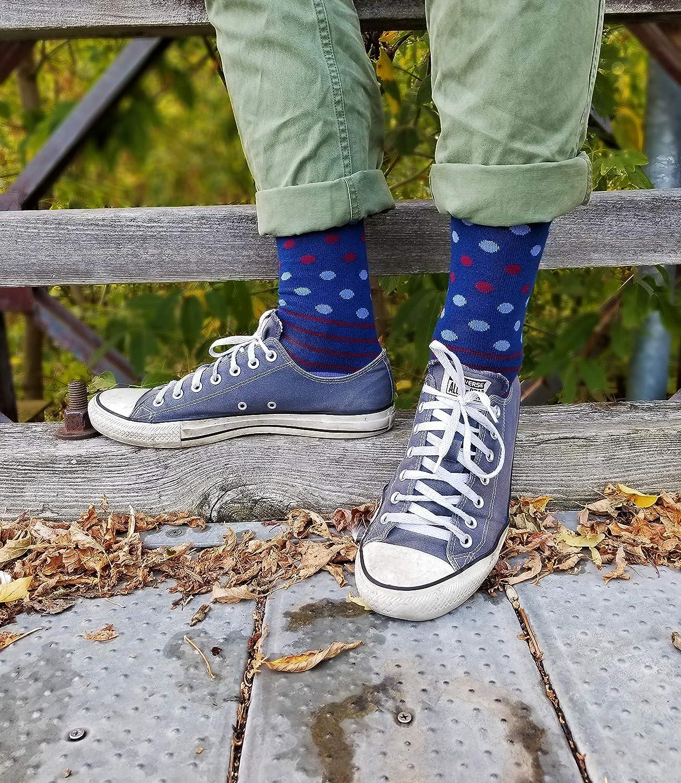Cool Socks For Men-Colorful Socks for Men-4 Pack of Crazy Socks For Men PHILOSOCKPHYs Mens Colorful Dress Socks