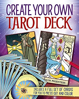 create your own tarot deck includes a full set of cards for you to press