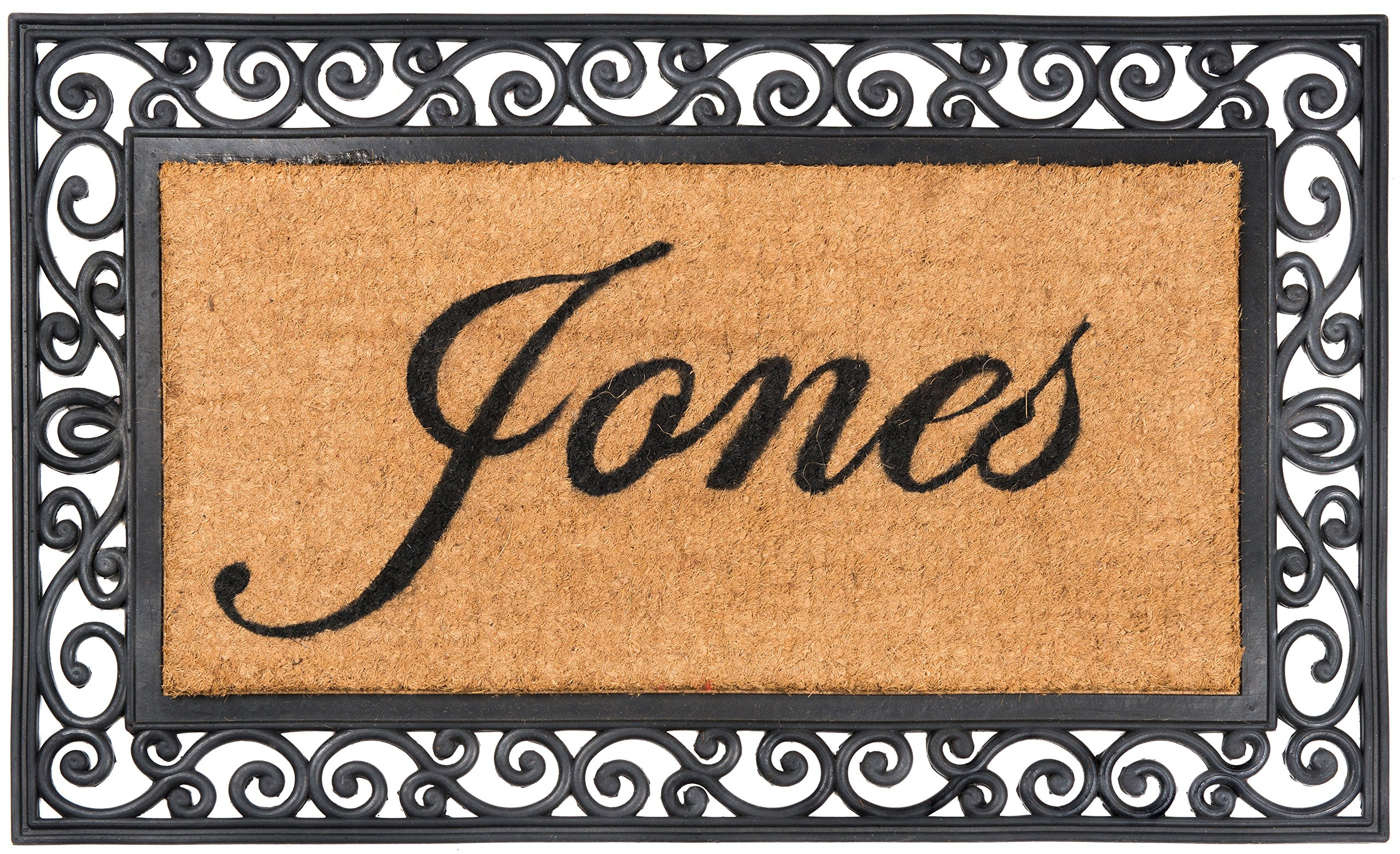 Nance Industries YourOwn Custom Name Monogrammed Rubber Welcome Mat 24'' x 39''