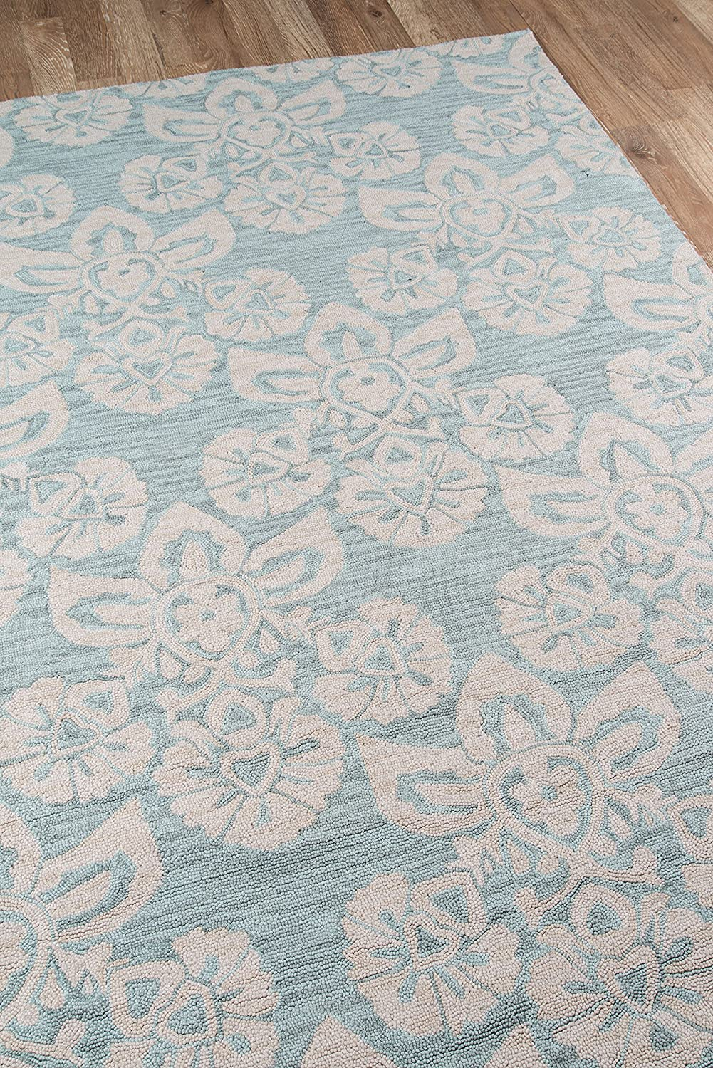 Momeni Rugs  Summit Collection Hand Knotted Transitional Area Rug SUMITSUM18LBL2376 Light Blue 2/'3 x 7/'6 Runner Inc 23 x 76 Runner