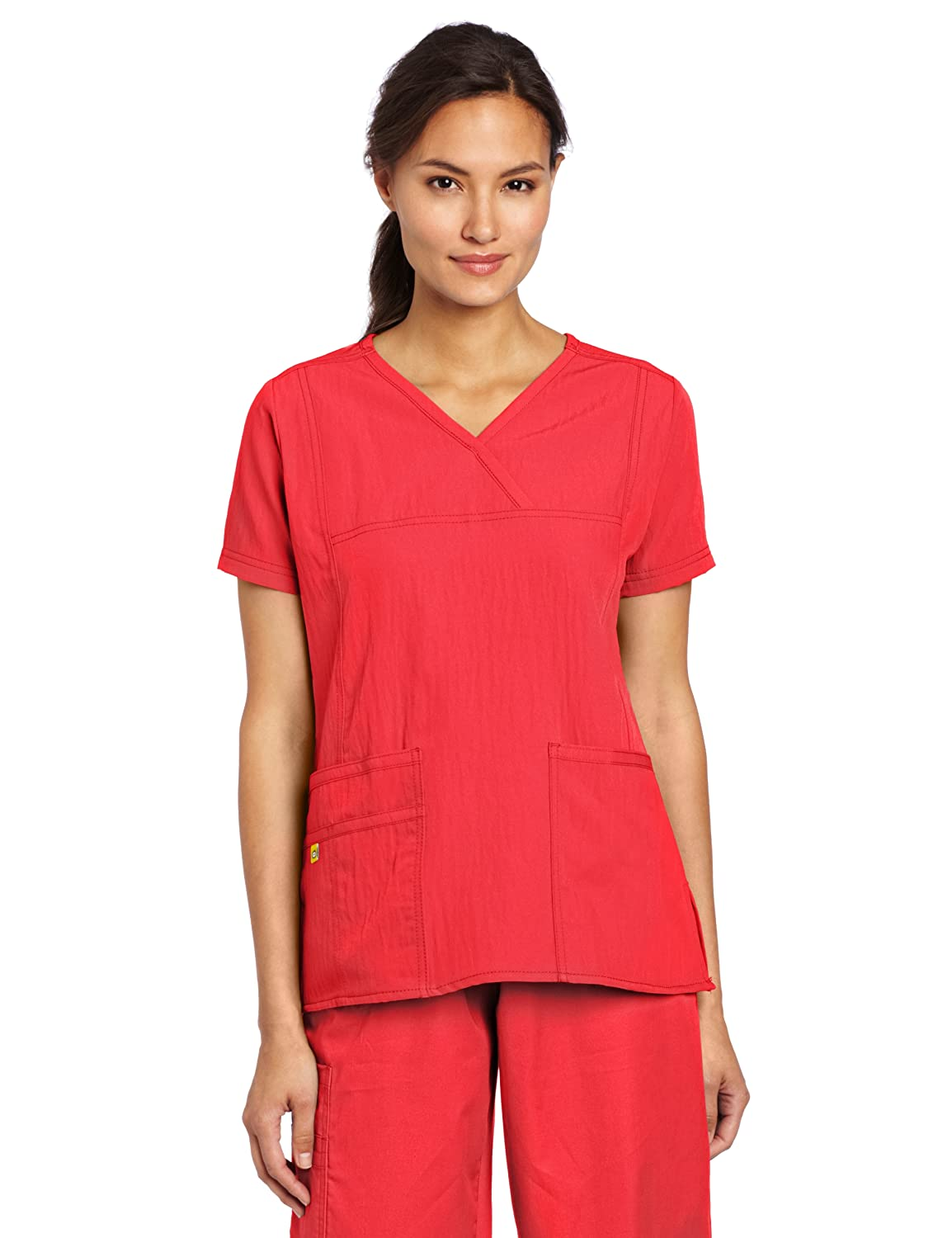 WonderWink Womens Scrubs Stretch Y Neck Image 3
