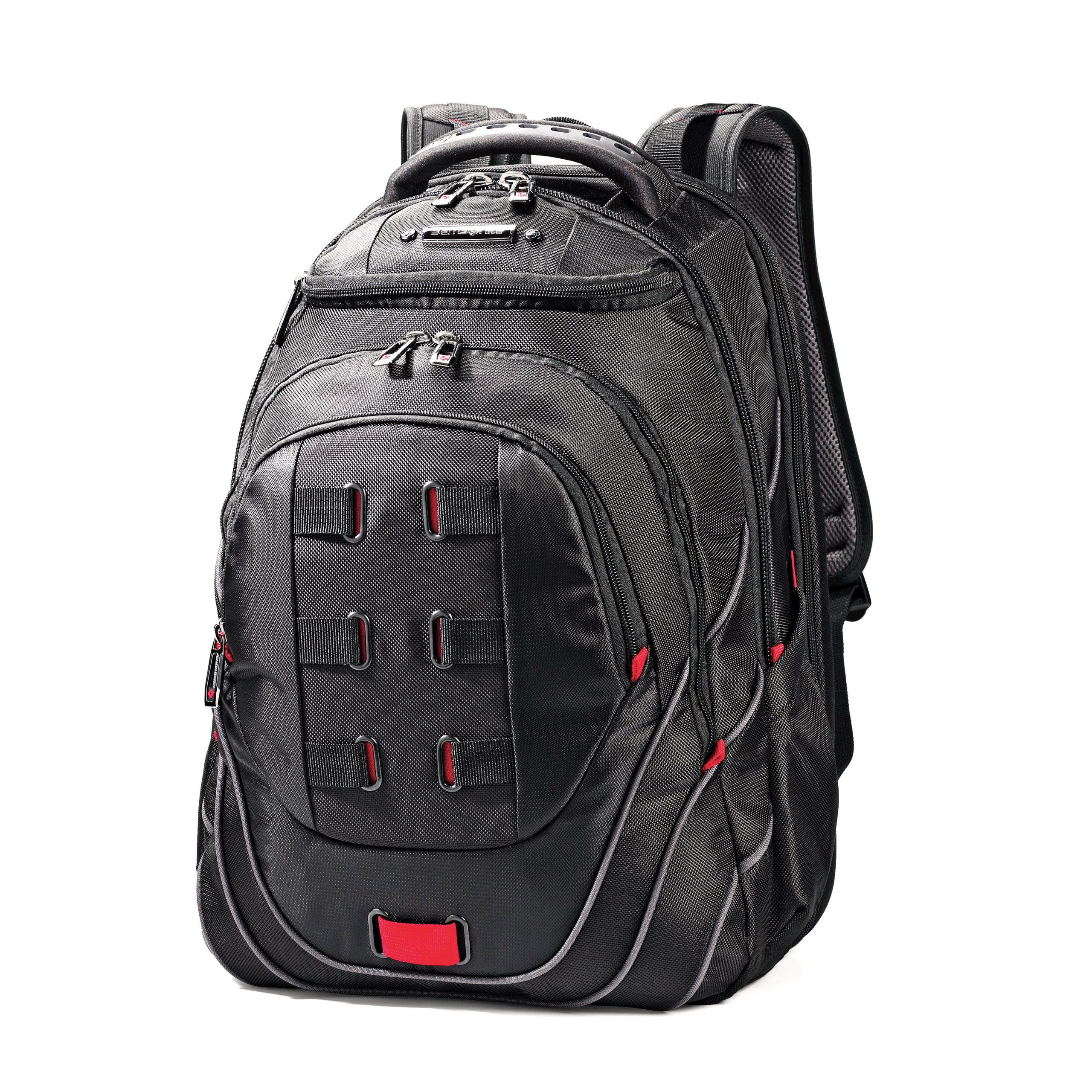Samsonite Luggage Tectonic Backpack, Black/Red