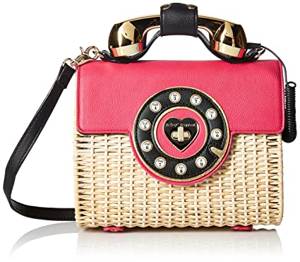 2b48ac681a58 Betsey Johnson Wicker Magenta Color Phone Bag