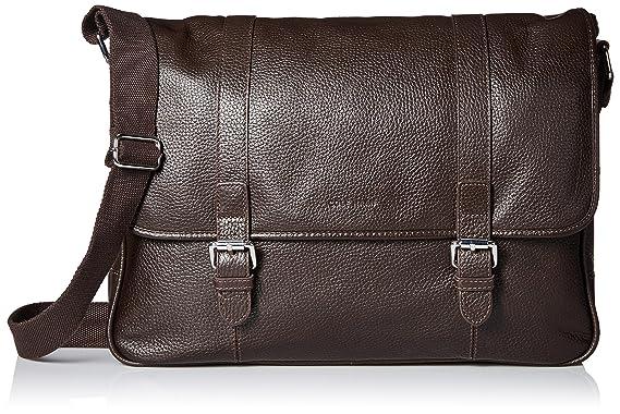 ad88948328 Amazon.com: Cole Haan Men's Pebble Leather Messenger, Chocolate, One ...