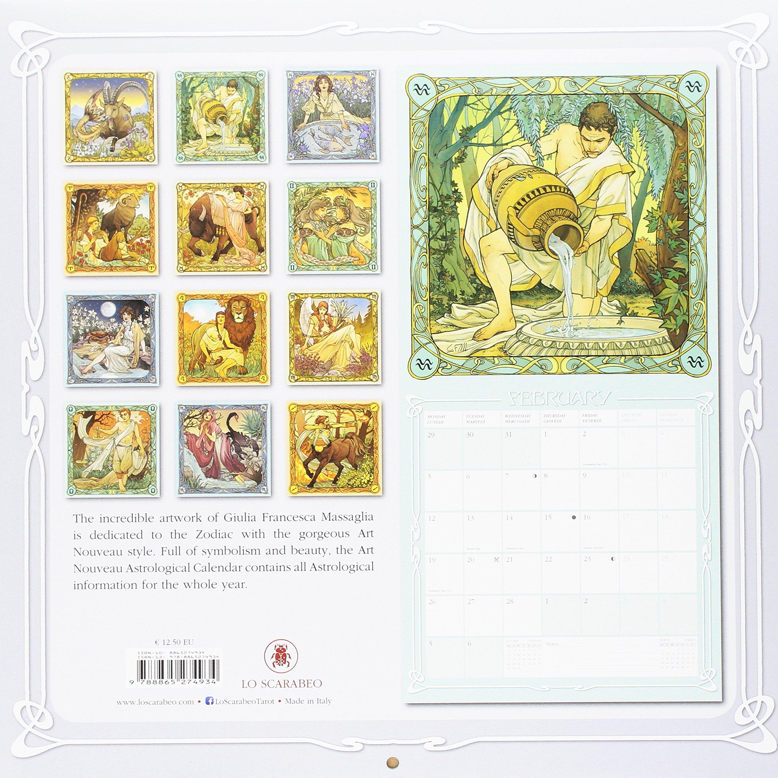 Art Nouveau Astrological Calendar 2018: Giulia F. Massaglia: Giulia ...