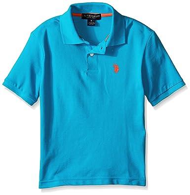 U.S. Polo Assn. Big Boys Classic Polo Shirt, Teal Blue, 14/16 ...