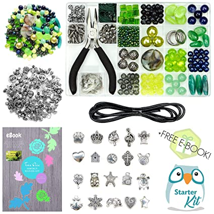 54eb4201ee8c1 Jewelry Making Kit, Beading Supplies, Jewelry Making Beads & Jewelry Kit  for Adults. Beading Kit & Jewlery Making Kit with Alloy Charms & Great  eBook. ...