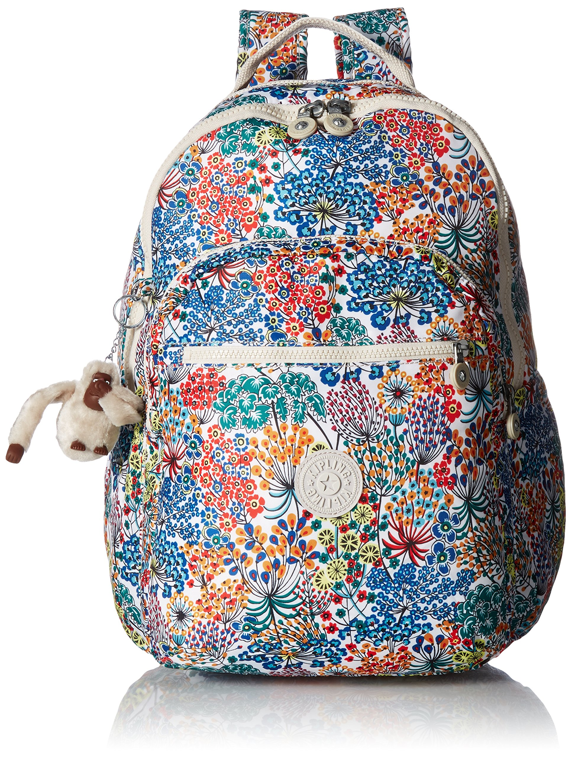 Seoul L Printed Backpack Backpack, Little Flower Blue, One Size