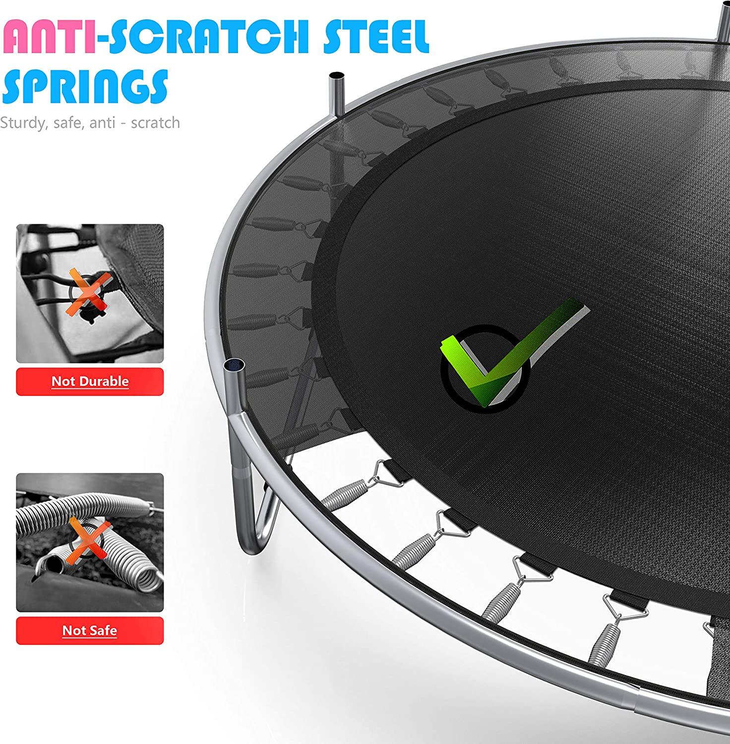 5 Ft Indoor or Outdoor Toddler Trampoline with Safety Enclosure Gifts for Boy and Girl Baby Toddler Trampoline Toys Birthday Gifts for Kids 60 Trampoline for Kids can Hold up to 442 lbs