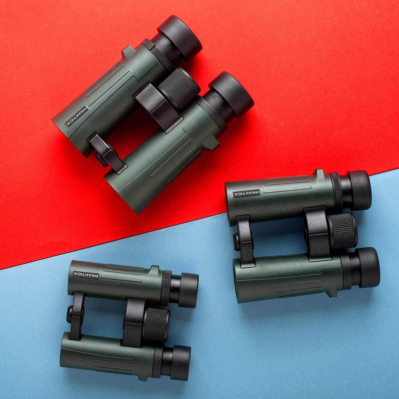 Binoculares 8x, 4,2 cm, Techo, Verde, 5,2 mm, 124 m Praktica Pioneer 8x42 Waterproof Binoculars binocular Techo Verde