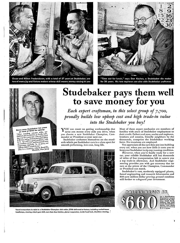 Amazon com : 1940 Studebaker Champion Club Sedan -Original