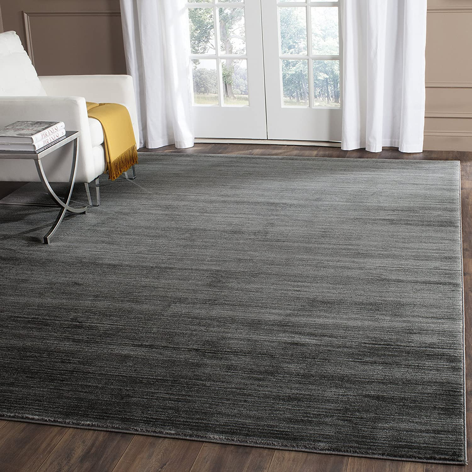 amazoncom safavieh vision collection vsn606d grey area rug 4 feet by 6 feet 4u0027 x 6u0027 kitchen u0026 dining