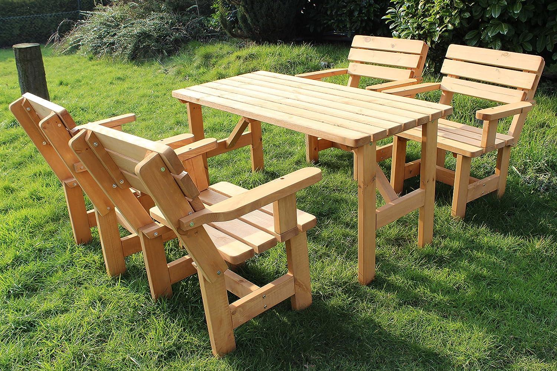Garten Set nr 3 Sitzgruppe Lounge Set Sitzgarnitur Gartengarnitur Gartenmöbel Tisch Bank 1x Tisch + 4 x Sessel (GARTEN SET 3)