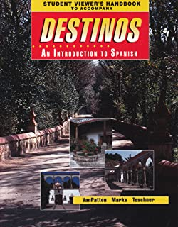 Amazon videoscript to accompany destinos an introduction to student viewers handbook original to accompany destinos an introduction to spanish mcdougal fandeluxe
