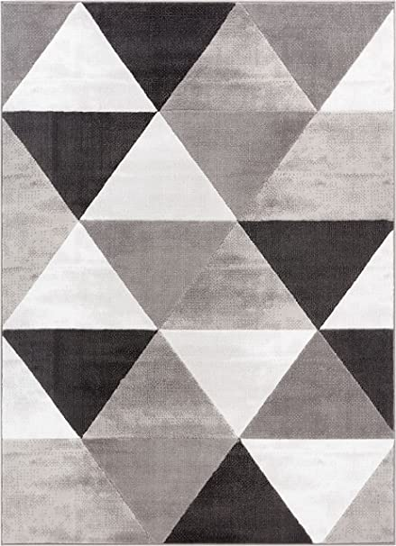modern carpet pattern. Well Woven Arlo Tiles Grey Modern Triangle Pattern 5 X 7 (5\u0027 Carpet E