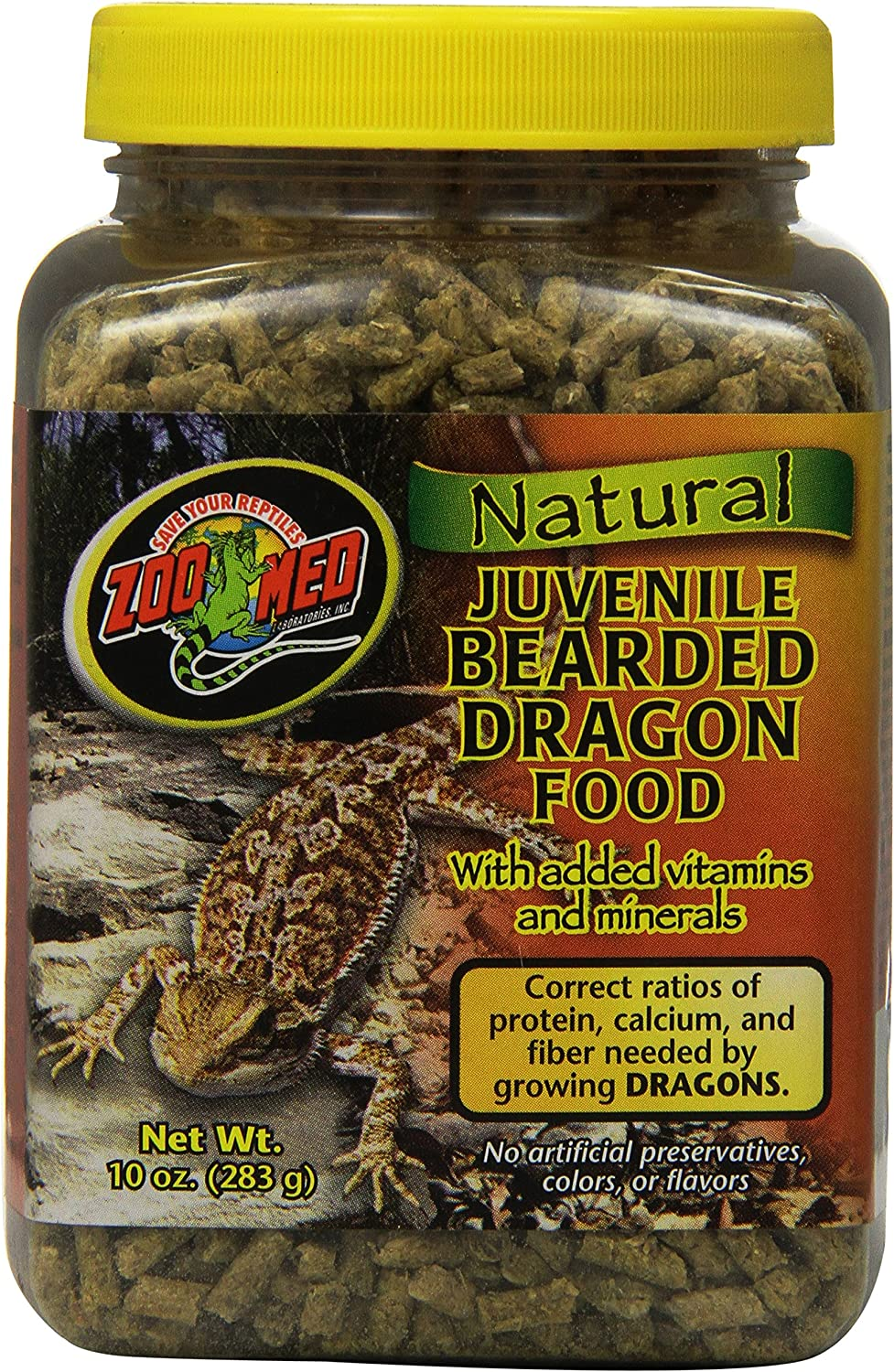 Zoo Med Laboratories Szmzm73 Beard Dragon Juvenile Soft-Moist Pellet, 10-Ounce